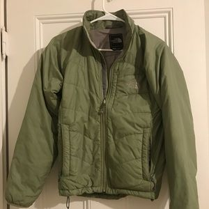 North Face Emerald Green Light Puff Coat